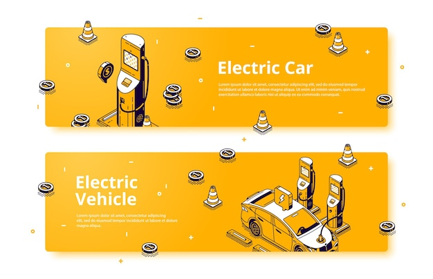 Electric vehicle banners.