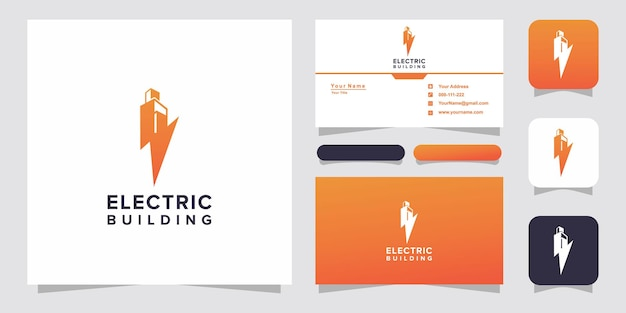 Electric with building logo and business card