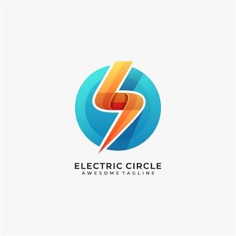Электрический с кругом абстрактный дизайн логотипа современный