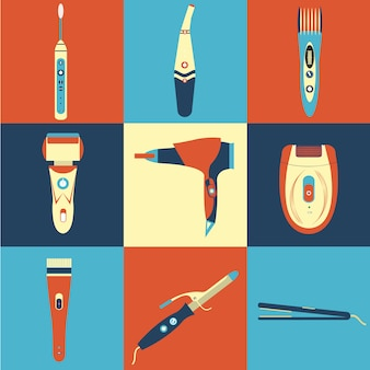 Electrical appliances icons collection