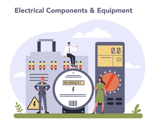 電気部品および機器産業 Premiumベクター