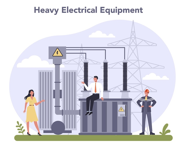 Electrical components and equipment industry. heavy electricity technology.