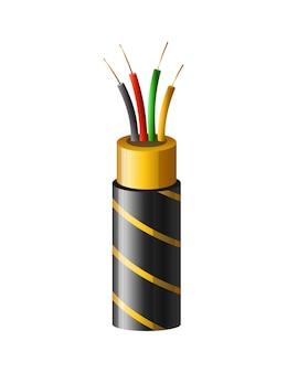 電気銅ケーブル。