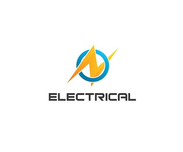Electrical energy letter n logo