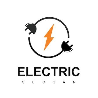 Электрический шаблон дизайна логотипа. символ энергии болта.