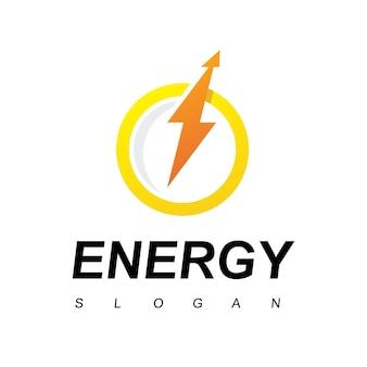 전기 로고 디자인 템플릿입니다. 볼트 에너지 기호입니다.