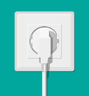 Electrical outlet and hand with plug