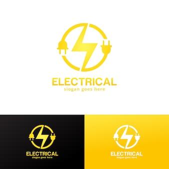 Шаблон дизайна логотипа электрических услуг