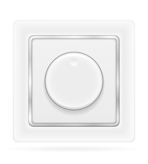 Electrical switch for indoor electricity wiring isolated on white