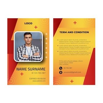 電気技師の広告idカードテンプレート