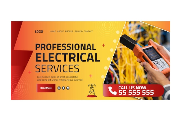 Electrician ad landing page template