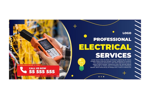 Electrician banner template