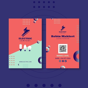 Двусторонняя визитка электрика
