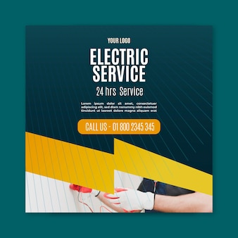 Electrician flyer square
