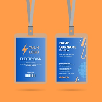 Electrician id card design