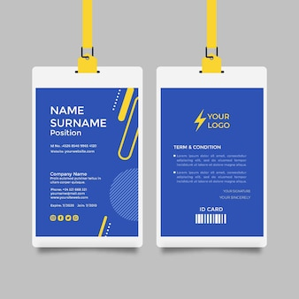 Modello di carta d'identità elettricista