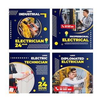 Electrician instagram post