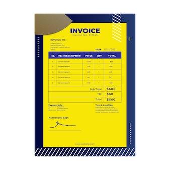 Шаблон счета-фактуры электрика