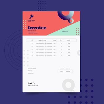 Electrician invoice template