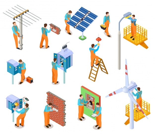 Electrician isometric set