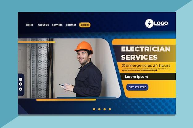 Pagina di destinazione dell'elettricista