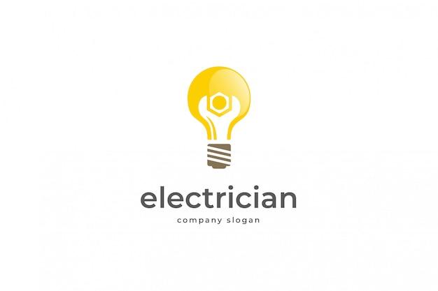 Шаблон логотипа электрик