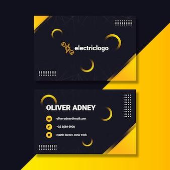 Шаблон визитной карточки человека электрика
