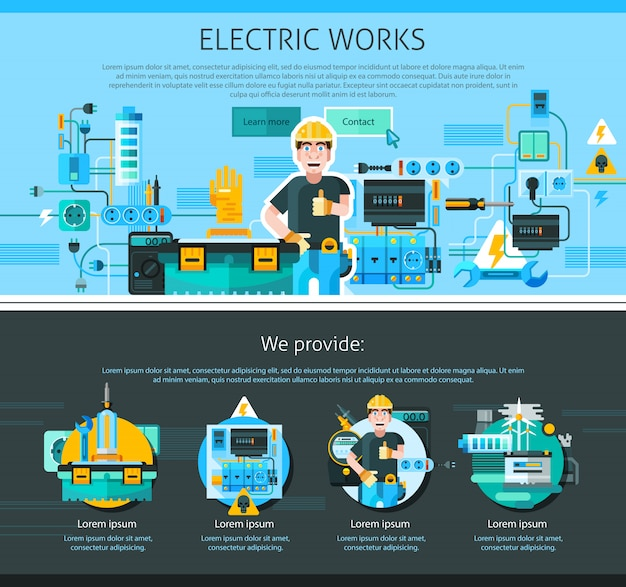 Electrician one page design