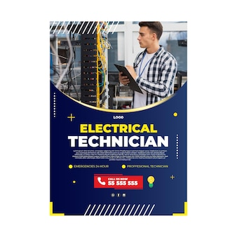 Electrician poster template