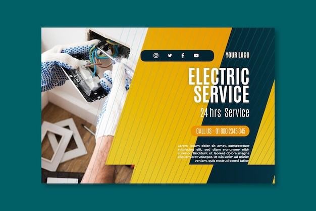 Electrician service banner template