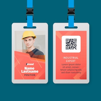 電気技師サービスidカードテンプレート