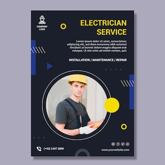 Electrician service poster template