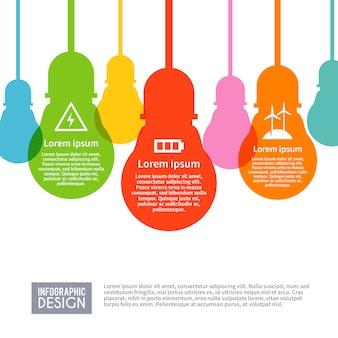 Insieme di infographics di elettricità