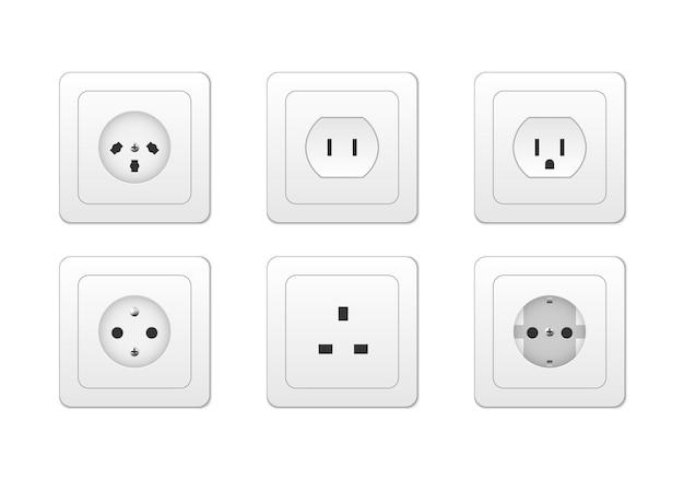 Electricity outlet socket types