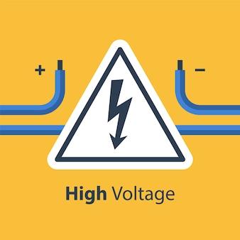 전기 전선 및 고전압 표시, 수리 및 유지 보수 서비스, 일러스트레이션