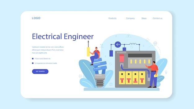 Веб-баннер или целевая страница службы электроснабжения