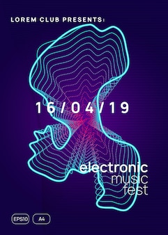 Electro event. dynamic gradient shape and line. futuristic show banner layout. electro event neon flyer. trance dance music. electronic sound. club fest poster. techno dj party.
