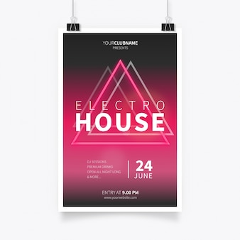 Electro House Music Poster