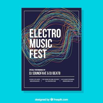 Шаблон шаблона для фестиваля electro music