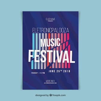Electro music festival poster template