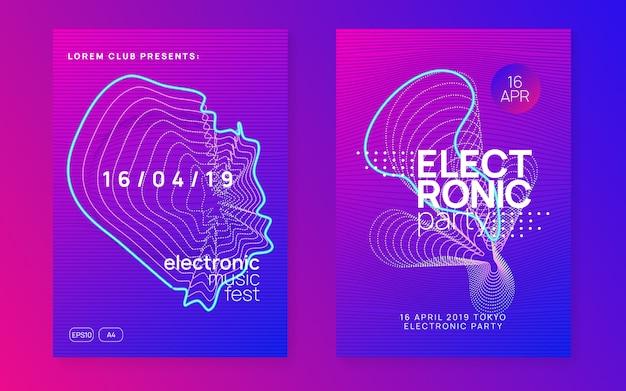 Электро звуковые шаблоны постеров