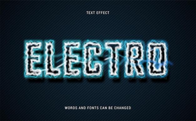 Electro text effect editable eps cc