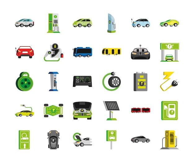 Электро автомобиль иконки