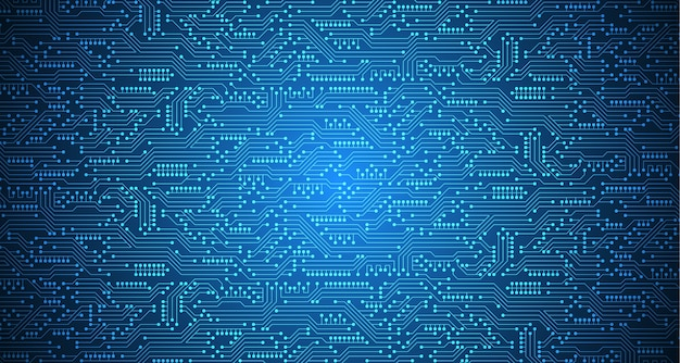 Electronic circuit design complex background.
