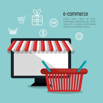 Electronic commerce  isolated icon design