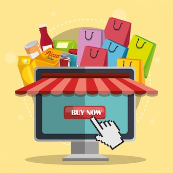 Electronic commerce set icons