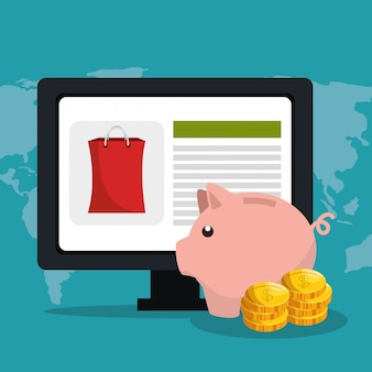 Electronic commerce with computer