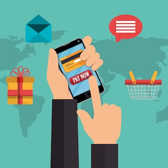 Electronic commerce with smartphone
