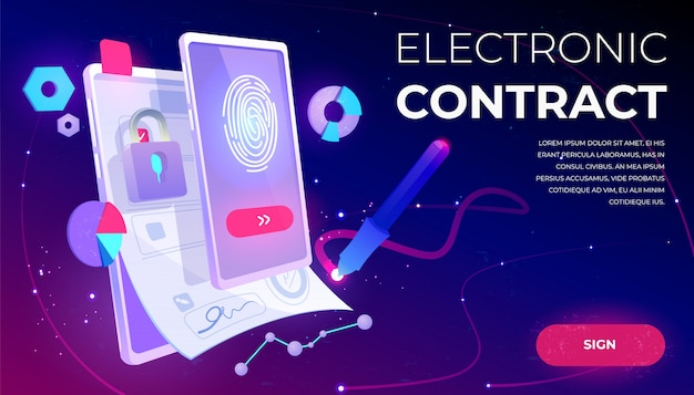 Electronic contract banner