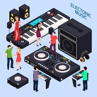Composizione di musica dance elettronica